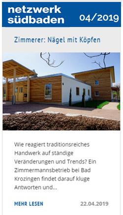 Artikel: Holzgebäude netzwerk Südbaden  04/2019